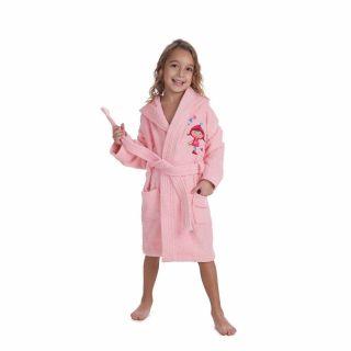 Interbaby детски халат за момиче, розов