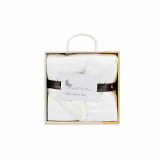 Interbaby бебешко двулицево одеяло 80х110см Beige Stars