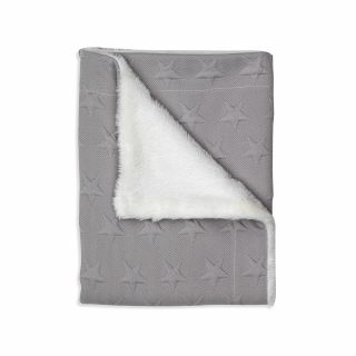 Interbaby бебешко двулицево одеяло 80х110см Grey Stars