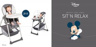 Стол за хранене/шезлонг 2в1,  Hauck Sit`n Relax Mickey