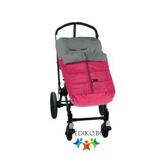 Interbaby Универсално детско чувалче за количка Lux беж