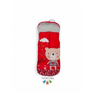 Interbaby Детско чувалче за количка Hello bear (50x100см)
