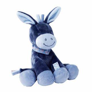 NATTOU Мека плющена играчка Aleks, Магаренце, синьо 24см