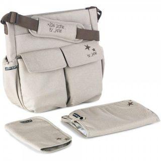 JANE Чанта за бебешка количка с подложка за преповиване МАМА BAG , беж