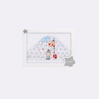 Interbaby бебешка хавлия Jungle бяла (100х100см)
