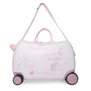 Tuc Tuc детски куфар за пътуване Trolley Rosa