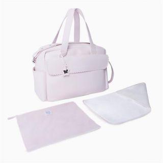 Tuc Tuc розова чанта за детска количка от еко кожа