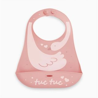 Tuc Tuc бебешки силиконов лигавник розов