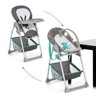 Стол за хранене/шезлонг 2в1,  Hauck Sit`n Relax Hearts