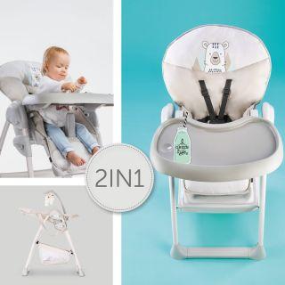 Стол за хранене/шезлонг 2в1,  Hauck Sit`n Relax Friend