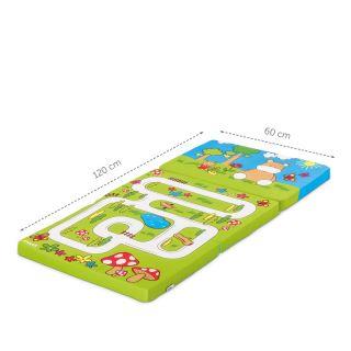 Сгъваем матрак 60х120см, HAUCK Hippo Green