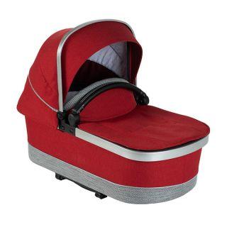 Кош за новородено Mercedes-Benz в ярко червен цвят
