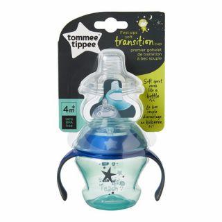 Tommee Tippee Преходна чаша с два накрайника 150ml. 4м+, Синя