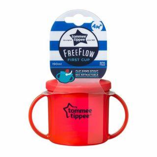 Tommee Tippee Детска чаша Essential Basics First Cup 4м+ червен