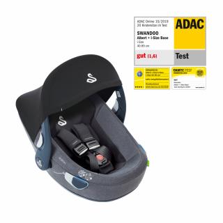 Бебешко столче за кола (0-13кг) Albert i-Size, Swandoo в универсален сив цвят