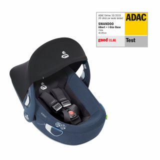 Вграден сенник-издига се над дръжката и осигурява 50+ фактор за UV защита на вашето дете