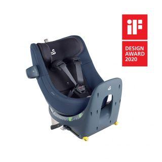 Детско синьо столче за кола Swandoo Marie i-Size 360° (0-18 кг) Blueberry наградено за Дизайн през 2020г