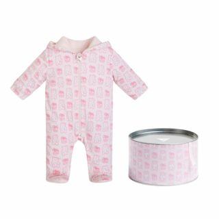 Guess Бебешки космонавт с качулка и мечета за момиче Bear в подаръчна кутия