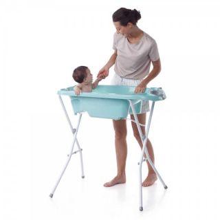 JANE Бебешка вана със стойка Aquarel Blue