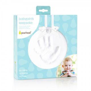 Pearhead Бебешки спомен - отпечатък - бял