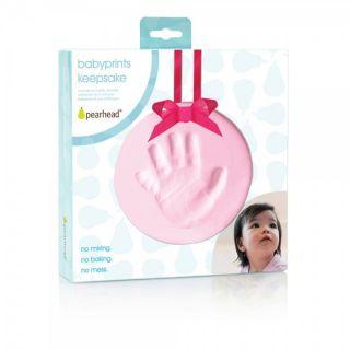 Pearhead Бебешки спомен - отпечатък - розов