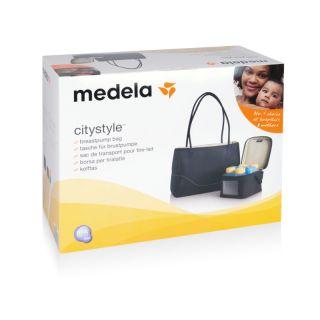 Medela Комплект City Style - чанта за помпа, хладилна чанта, 4 шишета, охладител за хладилна чанта