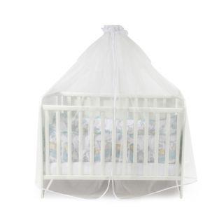 Универсален балдахин за бебешка кошара от тюл, 480/150 см - Бял, Lorelli
