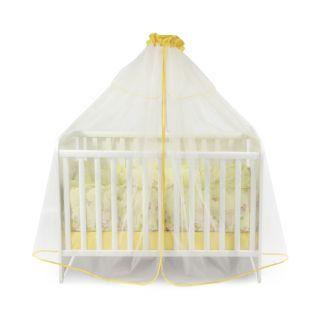 Универсален балдахин за бебешка кошара от тюл, 480/150 см - Жълт, Lorelli