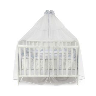 Балдахин за бебешка кошара от тюл, 480/150 см - Син, Lorelli