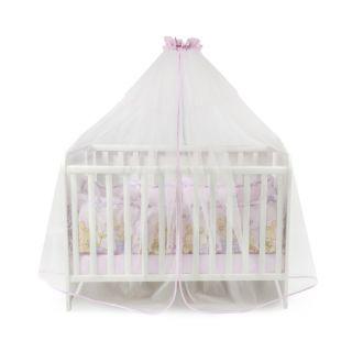 Балдахин за бебешка кошара от тюл, 480/150 см - Розово, Lorelli