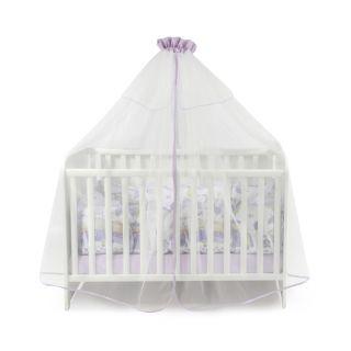 Балдахин за бебешка кошара от тюл, 480/150 см - Виолет, Lorelli