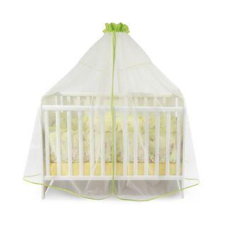 Балдахин за бебешка кошара от тюл, 480/150 см - Зелен, Lorelli