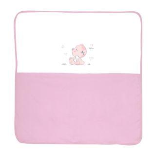 Lorelli Памучна бебешка пелена ZaZa, 90х90см, розова