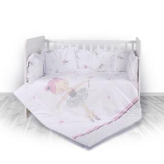 Lorelli Детски спален комплект 4 части, Лили, 60х120см, фея