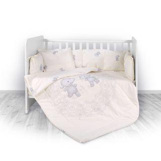 Lorelli Детски спален комплект 4 части, Лили, 60х120см, бежов