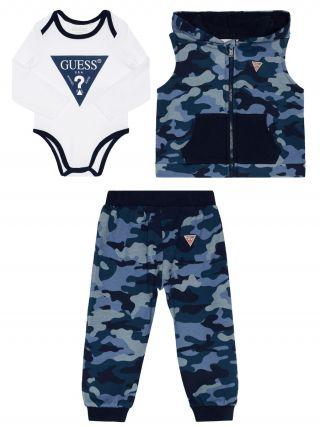 Guess бебешки комплект 3 части Blue Camouflage