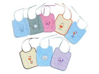 Interbaby бебешки лигавници с връзки 6бр(25x30см)