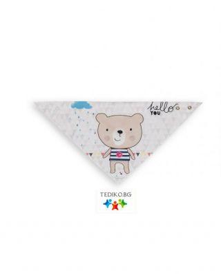 Interbaby бебешка бандана/лигавник Little Bear/Hello