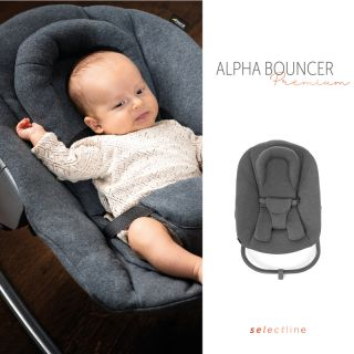 Бебешки шезлонг Hauck Alpha Bouncer Premium Jersey Charcoal