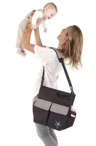 JANE Чанта за бебешка количка с подложка за преповиване МАМА BAG , Soil