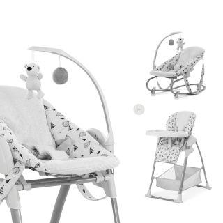 Детски шезлонг, модул и стол за хранене Hauck Sit`n Relax 3в1, Nordic Grey