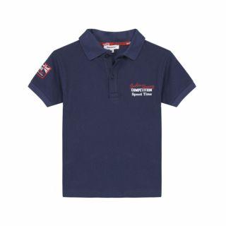 3pommes Детска тениска  с яка Тъмносин