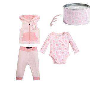 Guess Бебешки комплект 3 части Bear за момиче