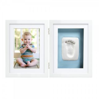 Pearhead Рамка за снимка и отпечатък с двустранно паспарту  -син/розов