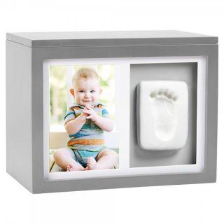 Pearhead Кутия за спомени с бебешки отпечатък - сив
