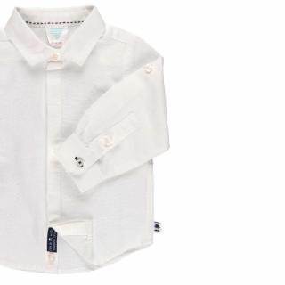 Детска риза бяла, лен, Boboli 712000