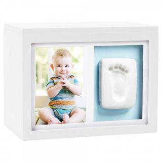 Pearhead Кутия за спомени с бебешки отпечатък - бяла