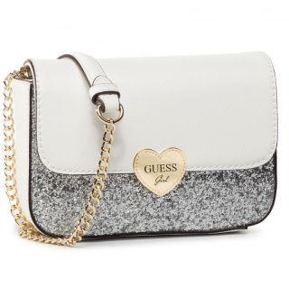 Guess официална детска чанта с брокат и лого Allie Crossbody