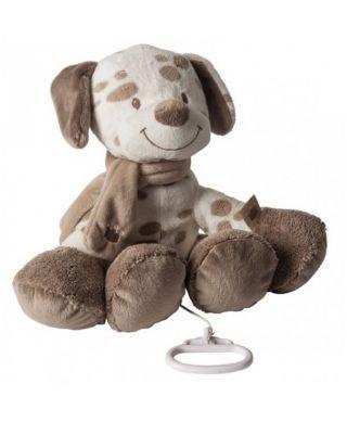 NATTOU Мека музикална играчка с клипс,  Tom - кученце (30 см)