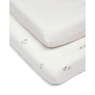 Mamas & Papas Долен чаршаф с ластик за легло - 2 броя 70x142см - WTTW Farm